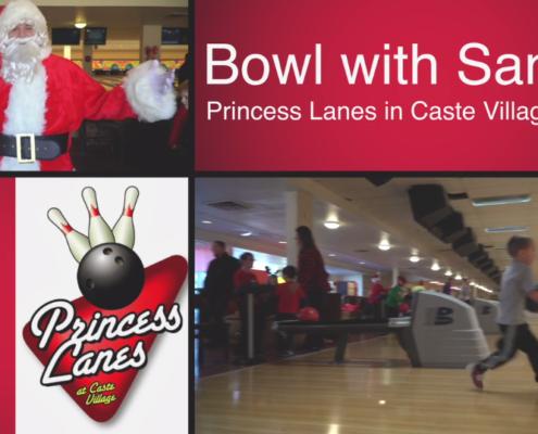 Bowling with Santa at Princess Lanes Bowling Center