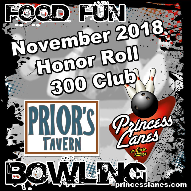 November Honor Roll at Princess Lanes