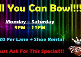 All You Can Bowl at Princess Lanes