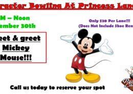 Character Bowling in November at Princess Lanes