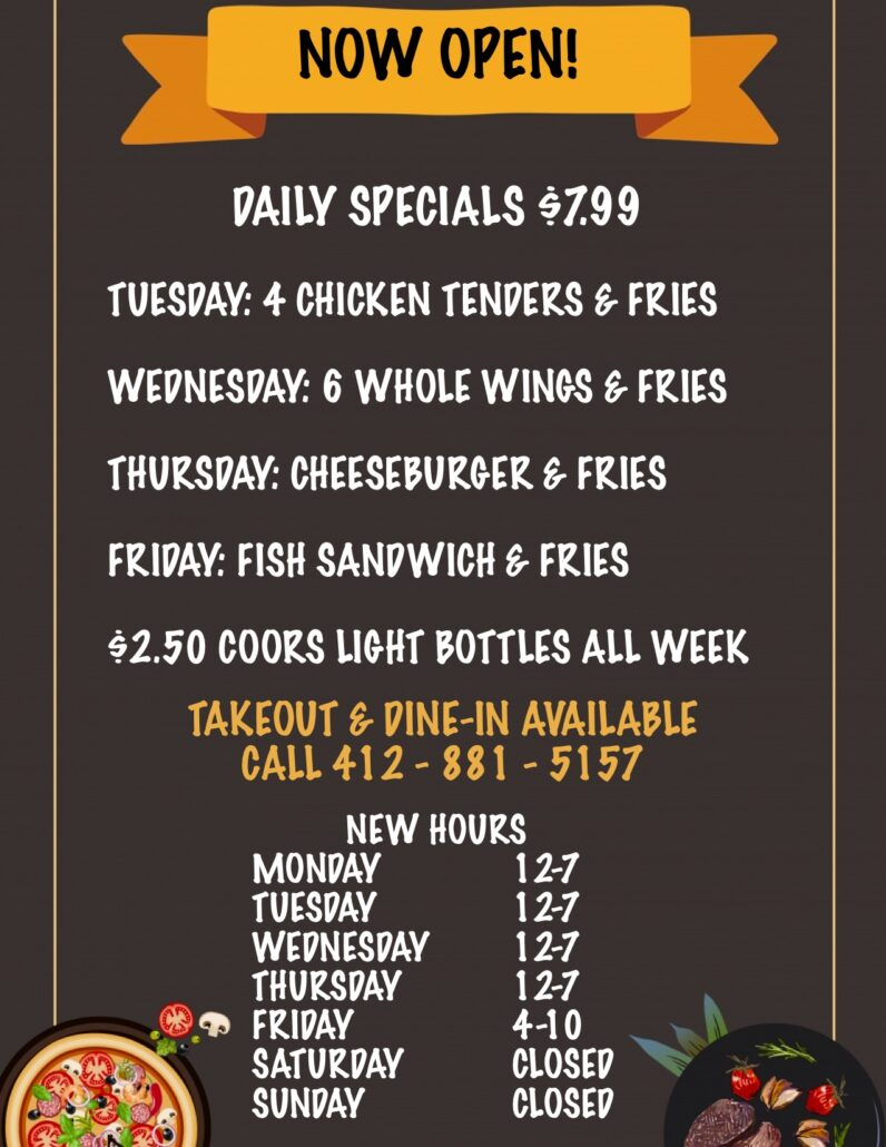 Weekly Food and Drink Special